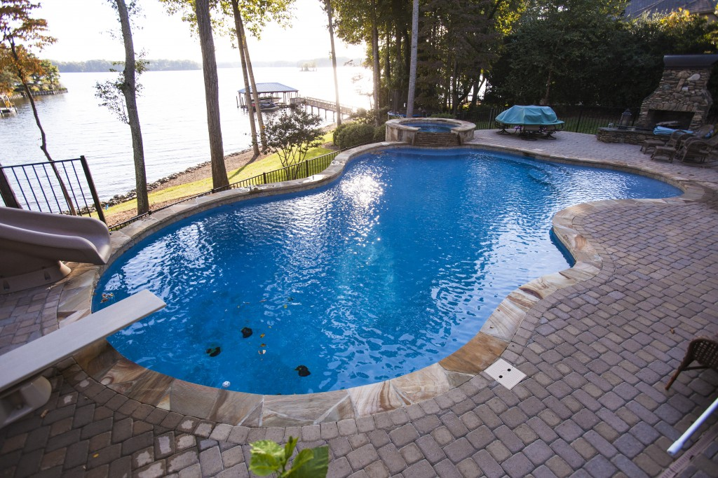 Charlotte residential pools raleigh greensboro pool builder for Swimming pool supplies raleigh nc
